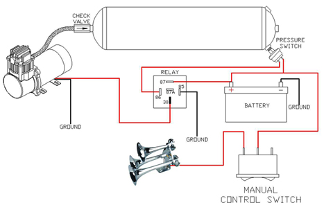 train horn wiring diagram for chevy train horn wiring diagram